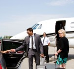 Diva arrives at private jet
